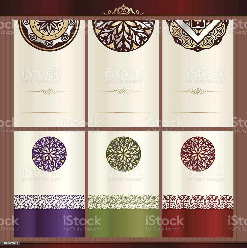 Collection of wine label templates royalty-free stock vector art