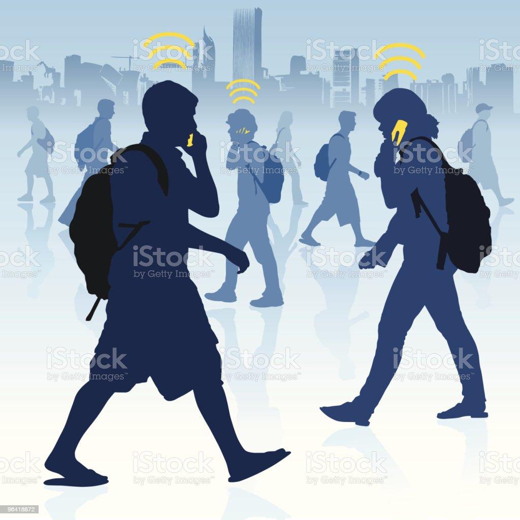 College Communication vector art illustration