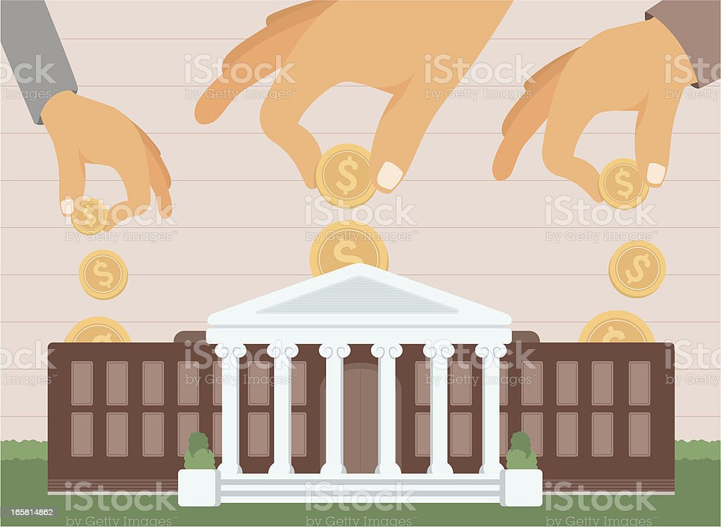 College funding / Education investing royalty-free stock vector art