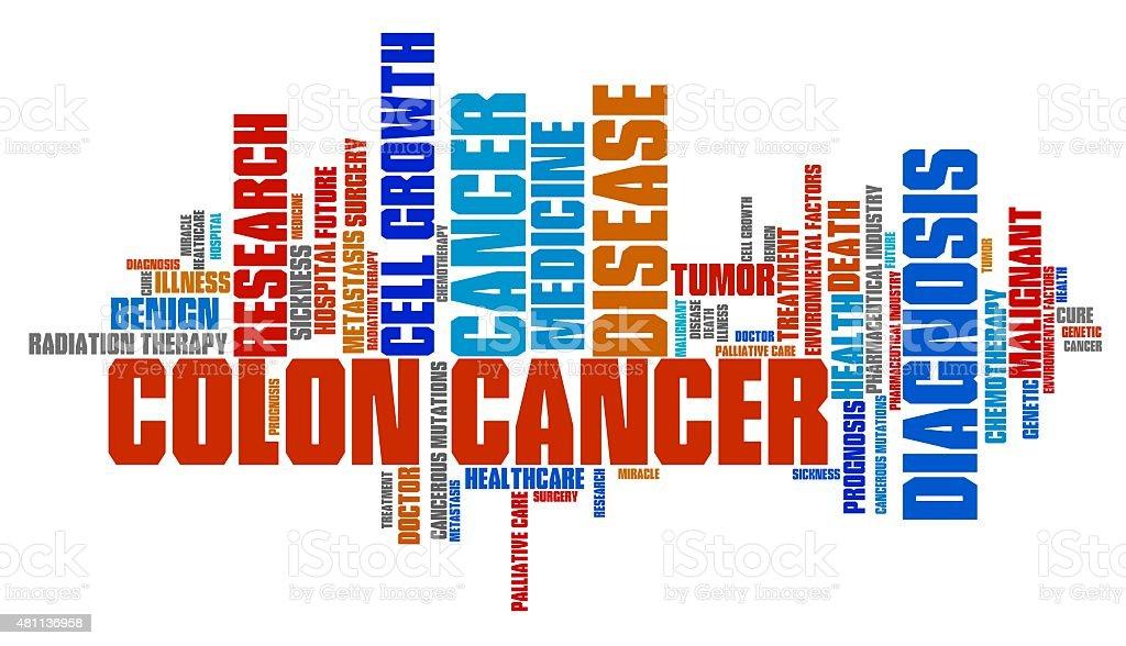 Colon cancer vector art illustration