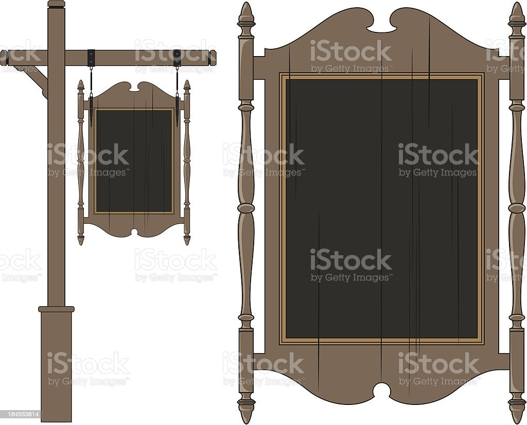 Colonial Style Sign vector art illustration