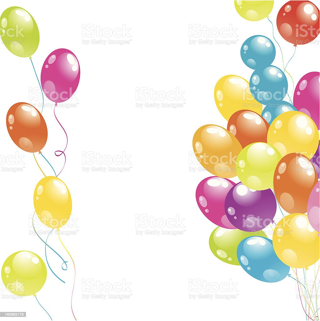 Color beautiful party balloons royalty-free stock vector art