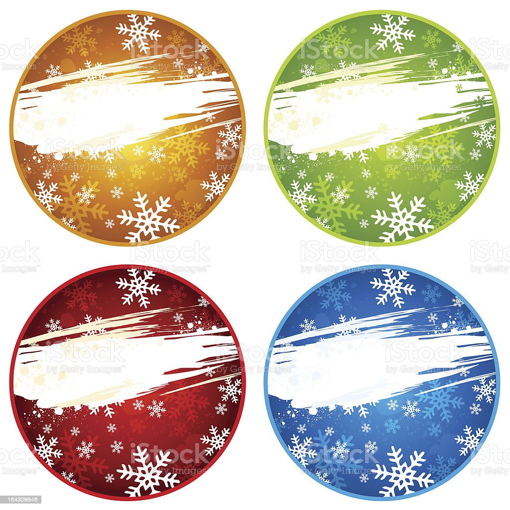 color christmas labels royalty-free stock vector art
