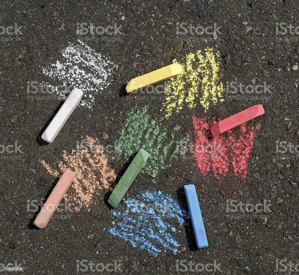 color crayon vector art illustration