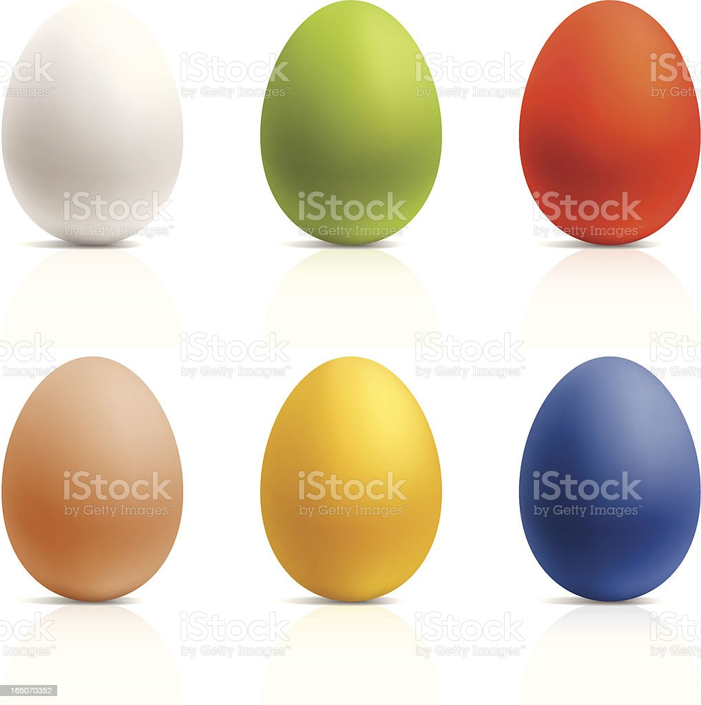 Color Easter eggs royalty-free stock vector art