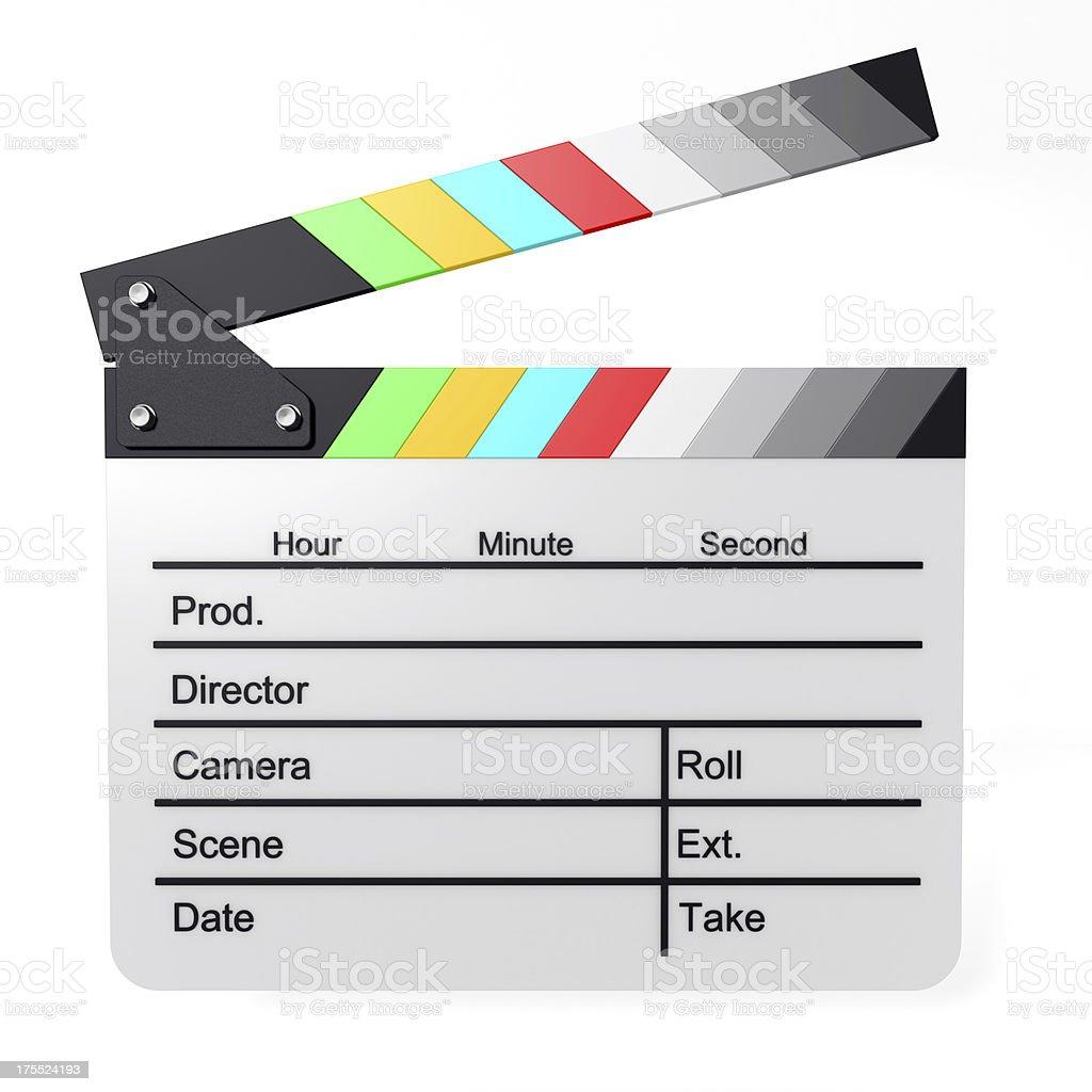 Color Film Slate vector art illustration