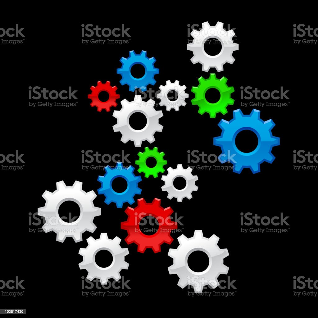 Color Gears royalty-free stock vector art