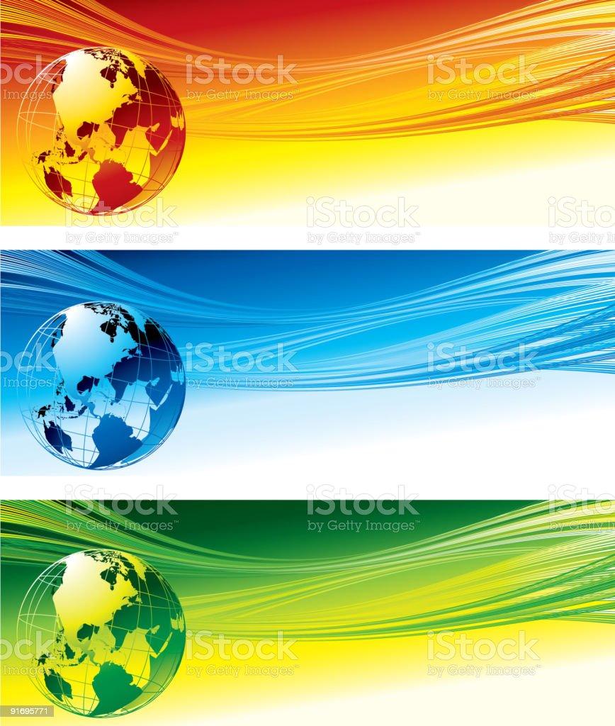 Color globe royalty-free stock vector art
