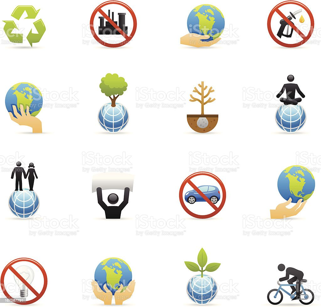 Color Icons - Earth Day royalty-free stock vector art