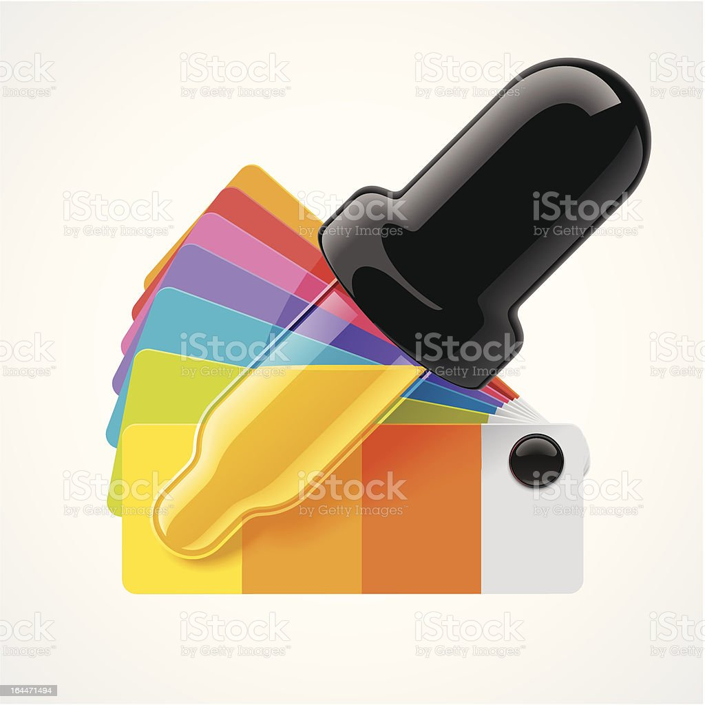 Color picker icon royalty-free stock vector art