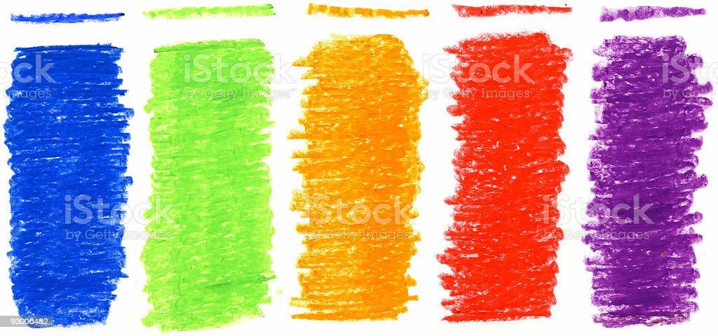Color Scribbles royalty-free stock vector art