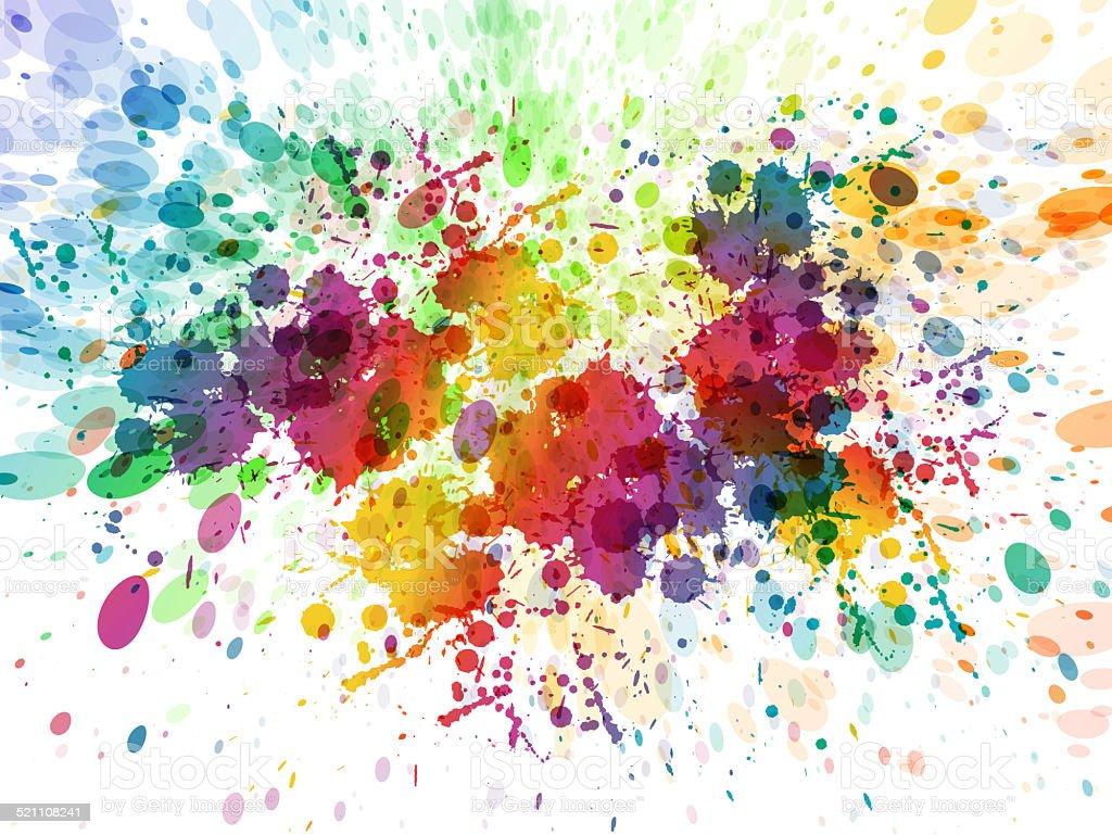 Color splash background vector art illustration