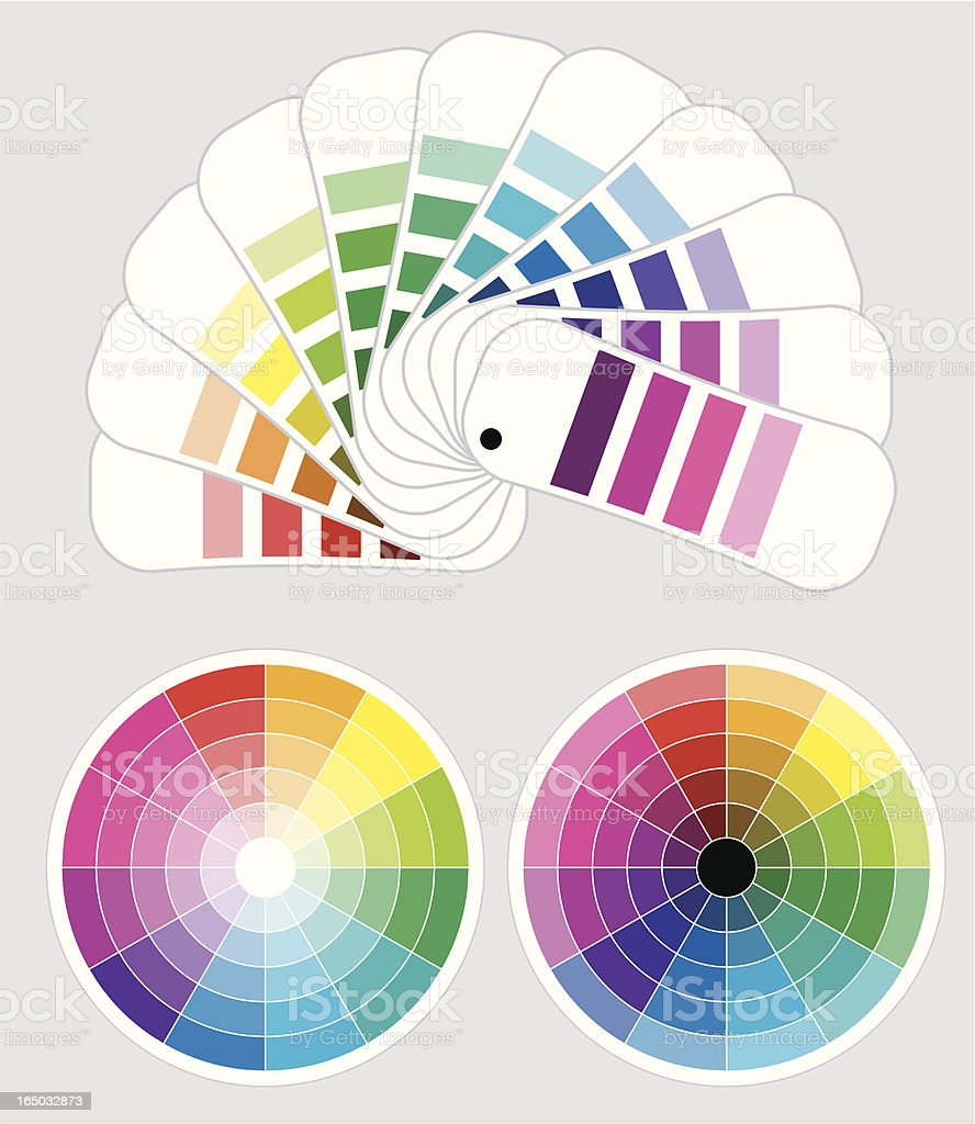 color wheels and  color-samples royalty-free stock vector art