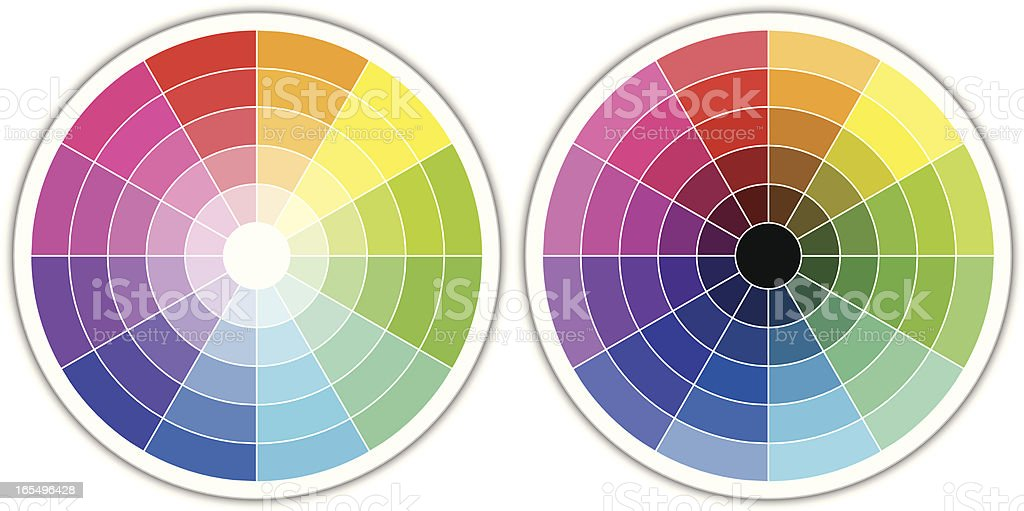 Color wheels royalty-free stock vector art