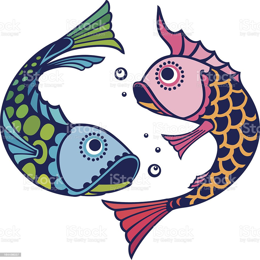color_fish royalty-free stock vector art