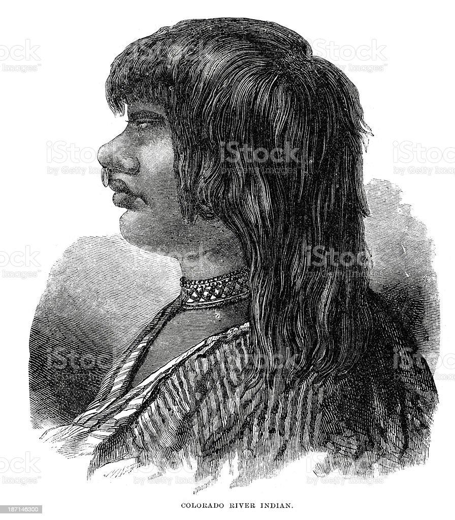 Colorado River Indian royalty-free stock vector art
