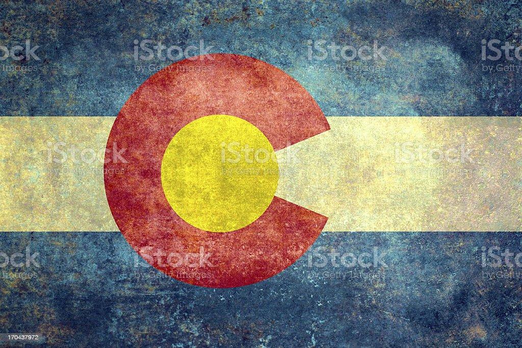 Colorado State flag Distressed version vector art illustration