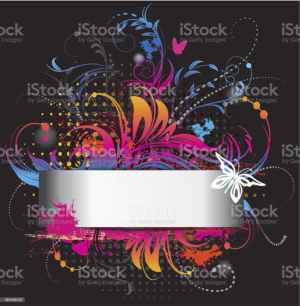 Colored banner on black royalty-free stock vector art