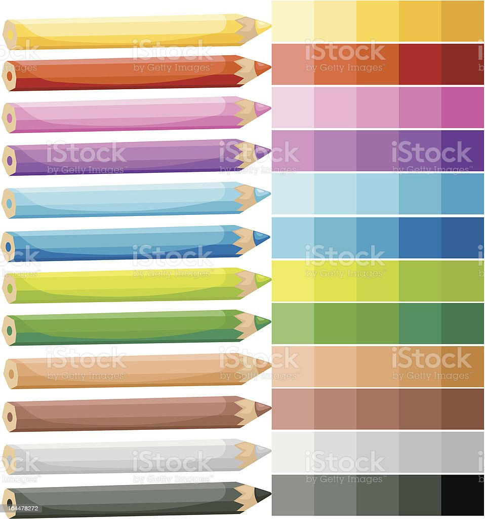 Colored Crayons royalty-free stock vector art