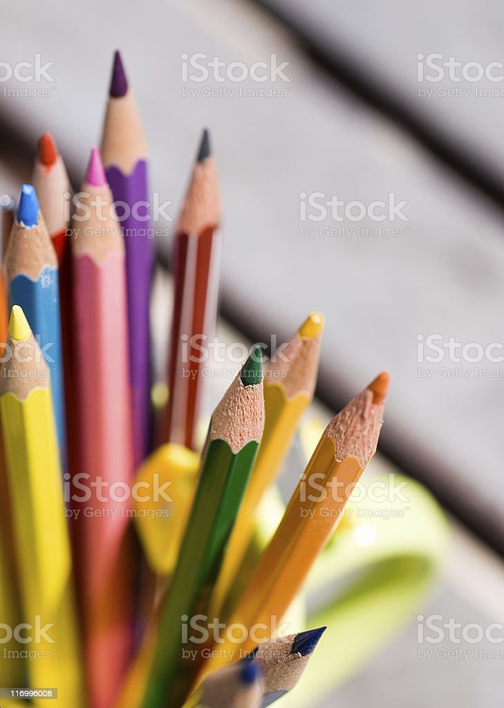 Colored pencils vector art illustration