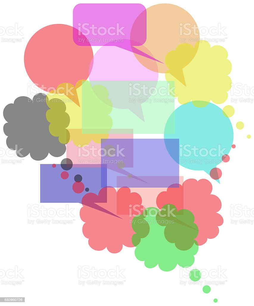 Colored Speech Bubbles Group stock photo