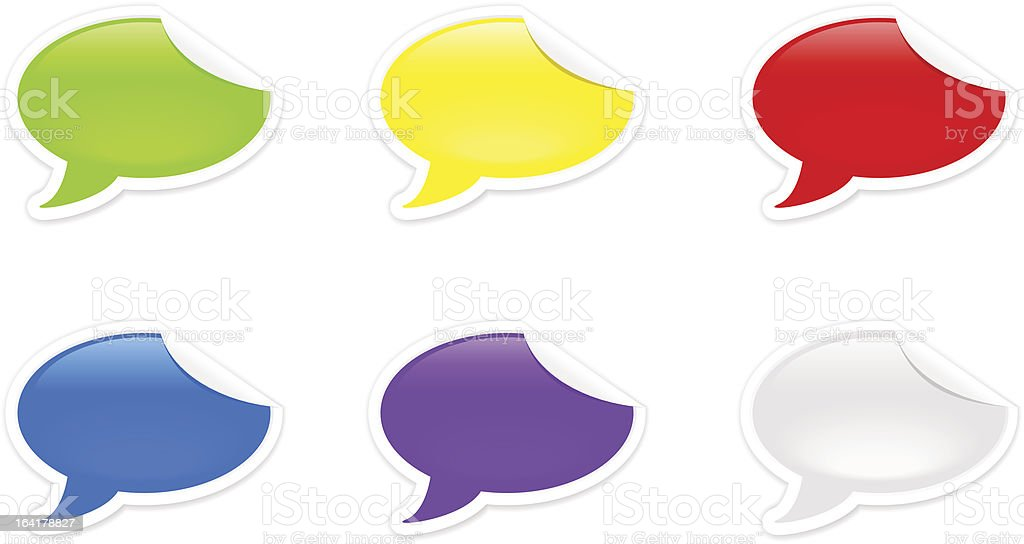 Colored stickers royalty-free stock vector art