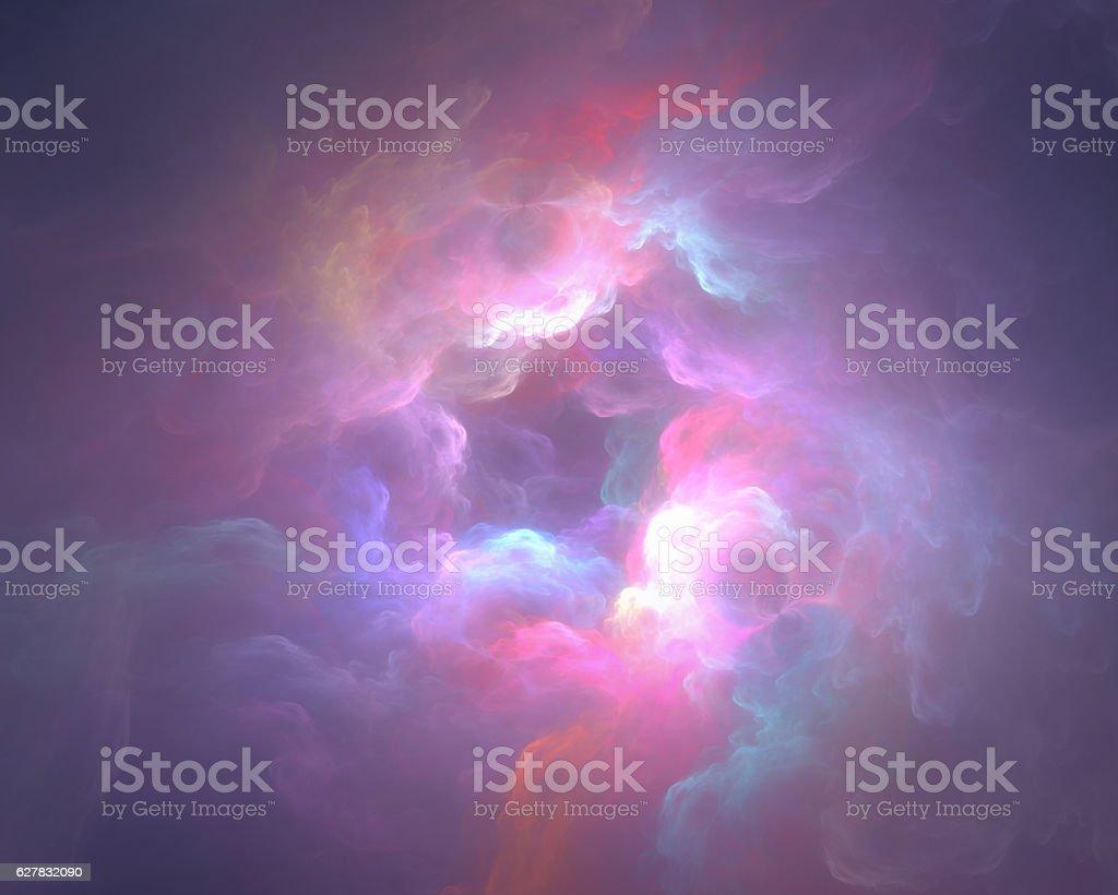 colorful art clouds vector art illustration