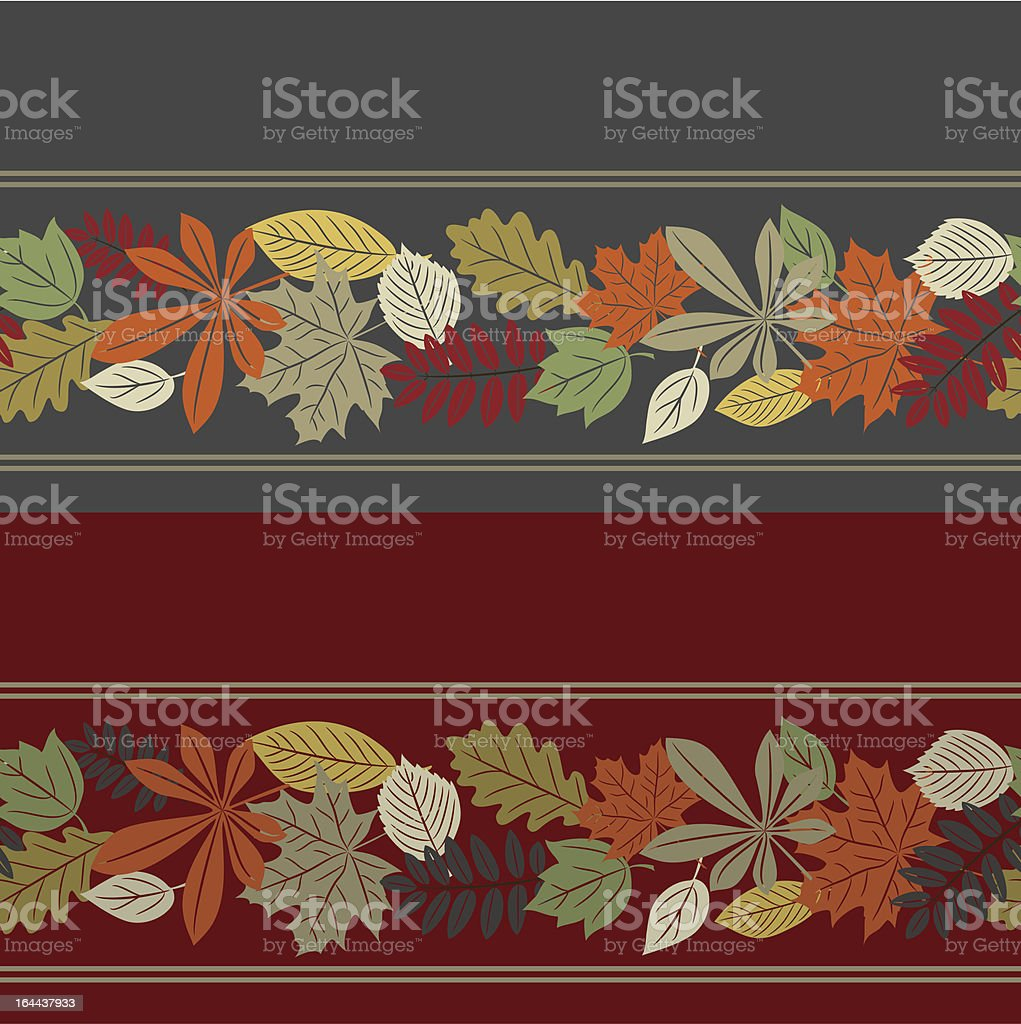 Colorful autumn leaf seamless pattern royalty-free stock vector art