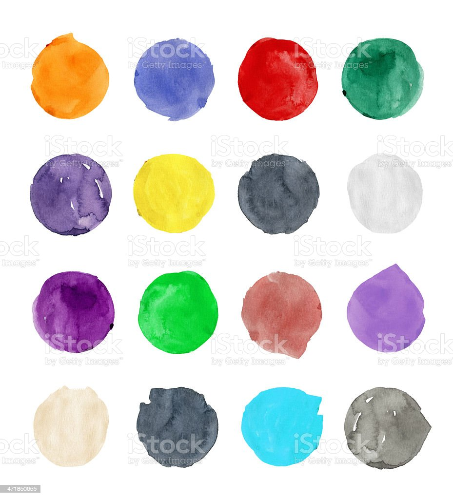 Colorful Circles vector art illustration