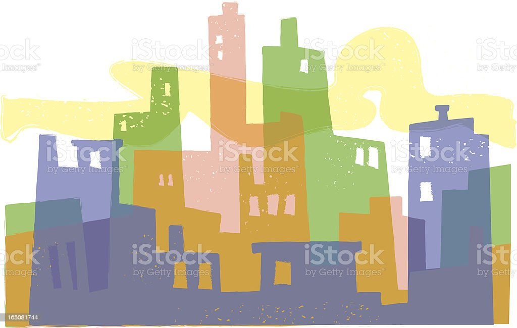 Colorful City royalty-free stock vector art