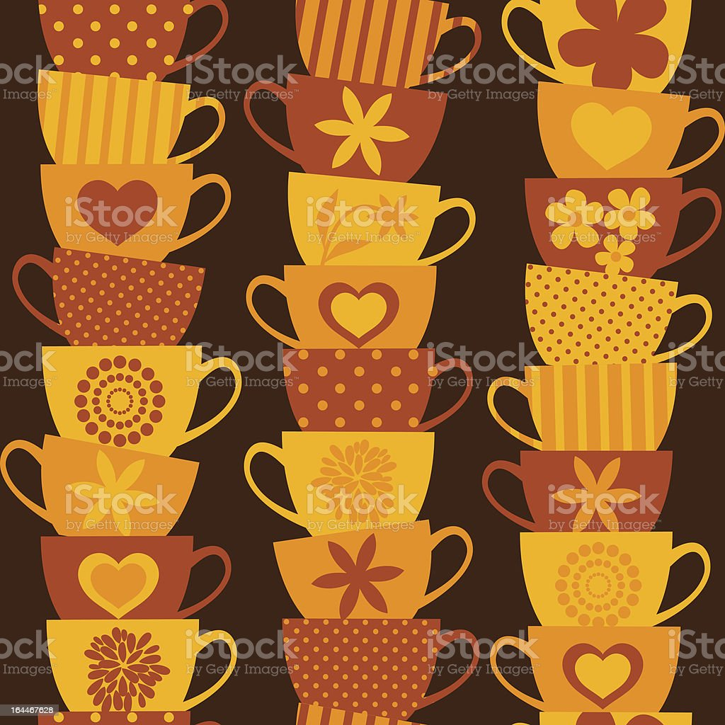 Colorful Cups Background royalty-free stock vector art