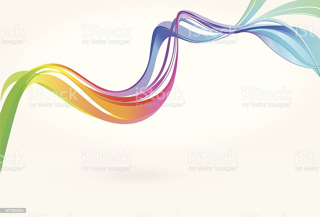 Colorful Curve Background royalty-free stock vector art