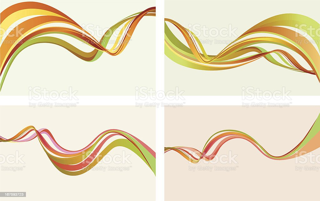 Colorful Curve Background SET royalty-free stock vector art