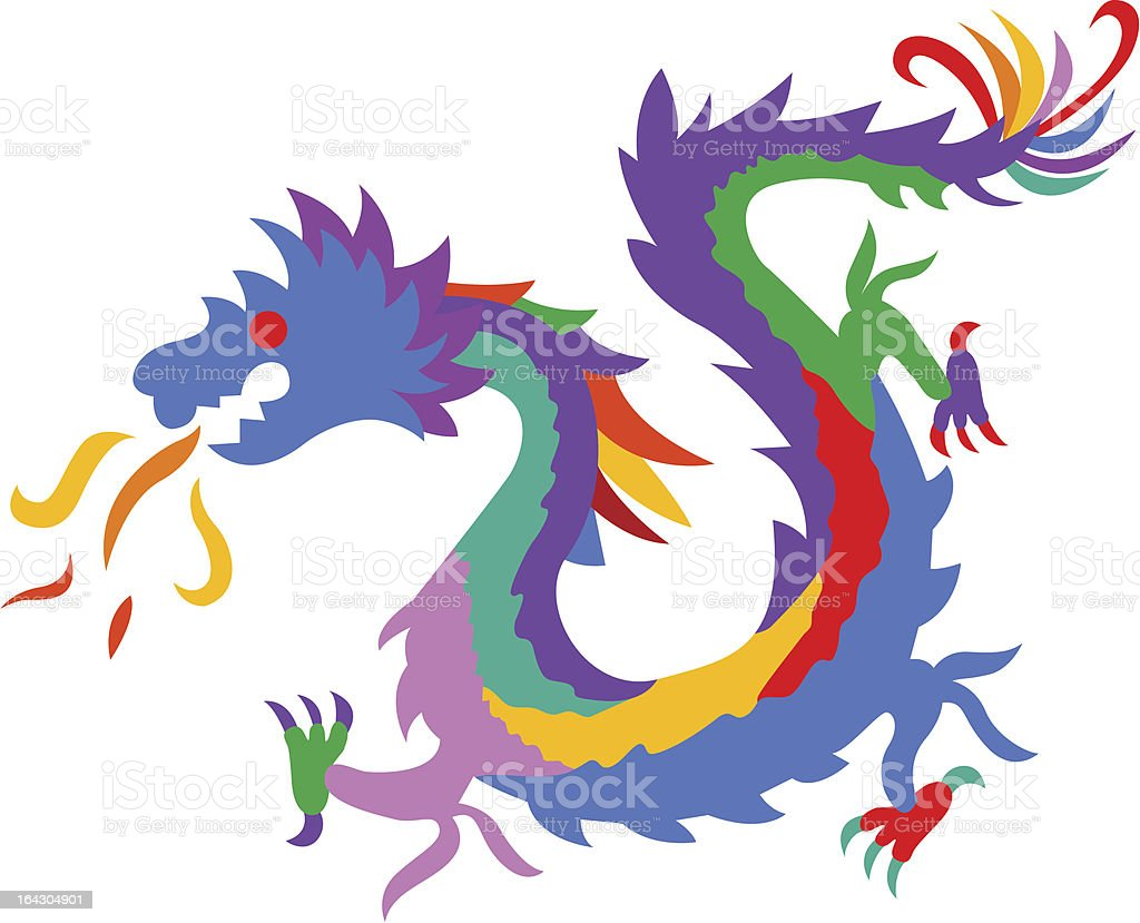 Colorful Dragon royalty-free stock vector art