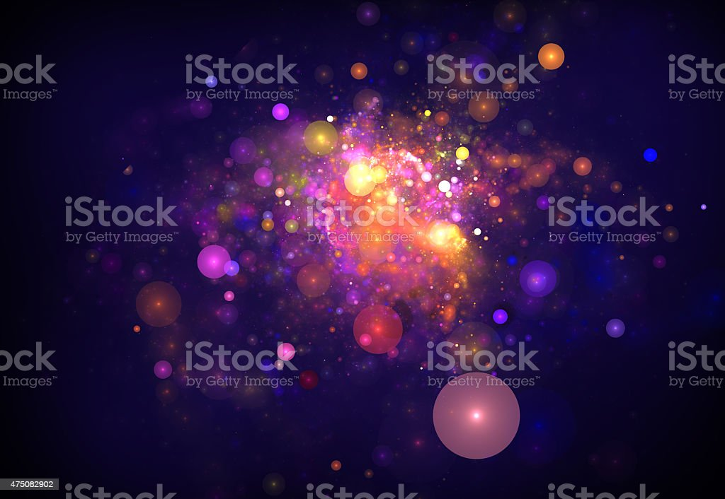 Colorful Fireworks vector art illustration
