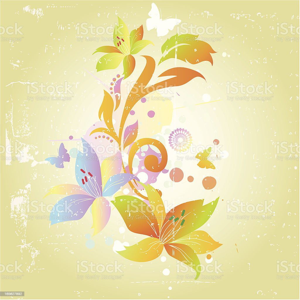 Colorful Floral Ornament royalty-free stock vector art