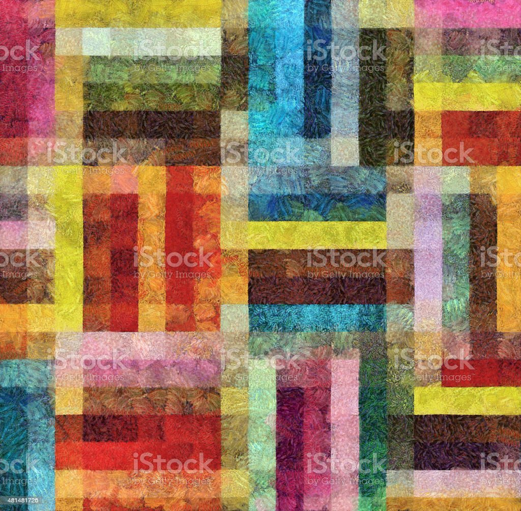 Colorful Geometric Abstract Background Painting vector art illustration