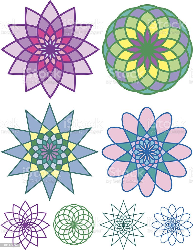 Colorful geometric patterns royalty-free stock vector art