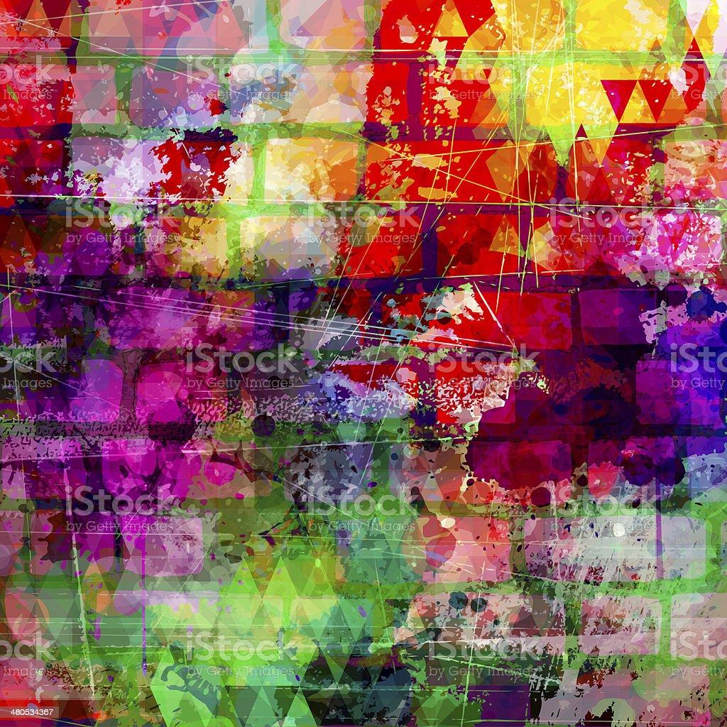 Colorful grunge art wall illustration vector art illustration