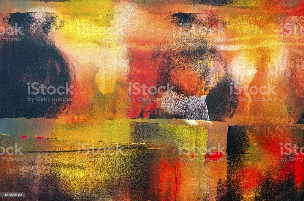 Colorful horizontal abstract royalty-free stock vector art