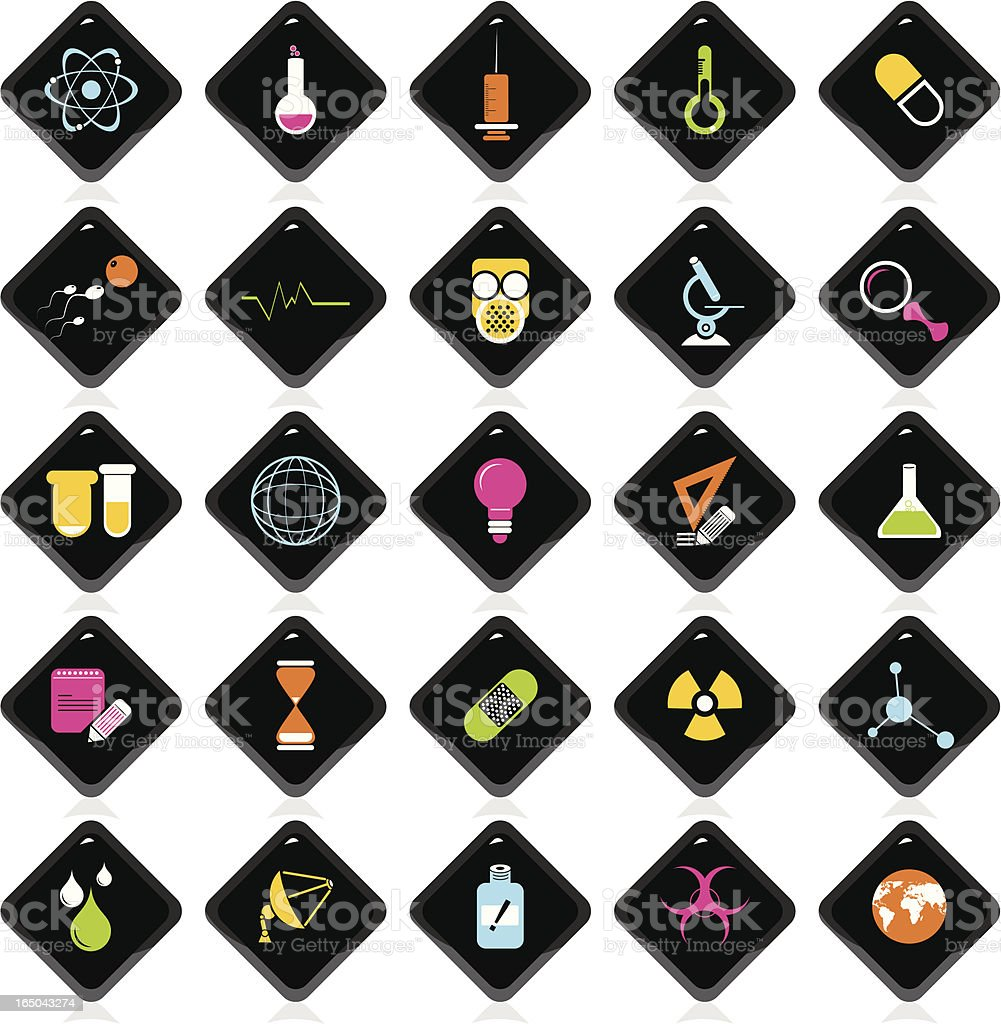 Colorful Icons: Science royalty-free stock vector art