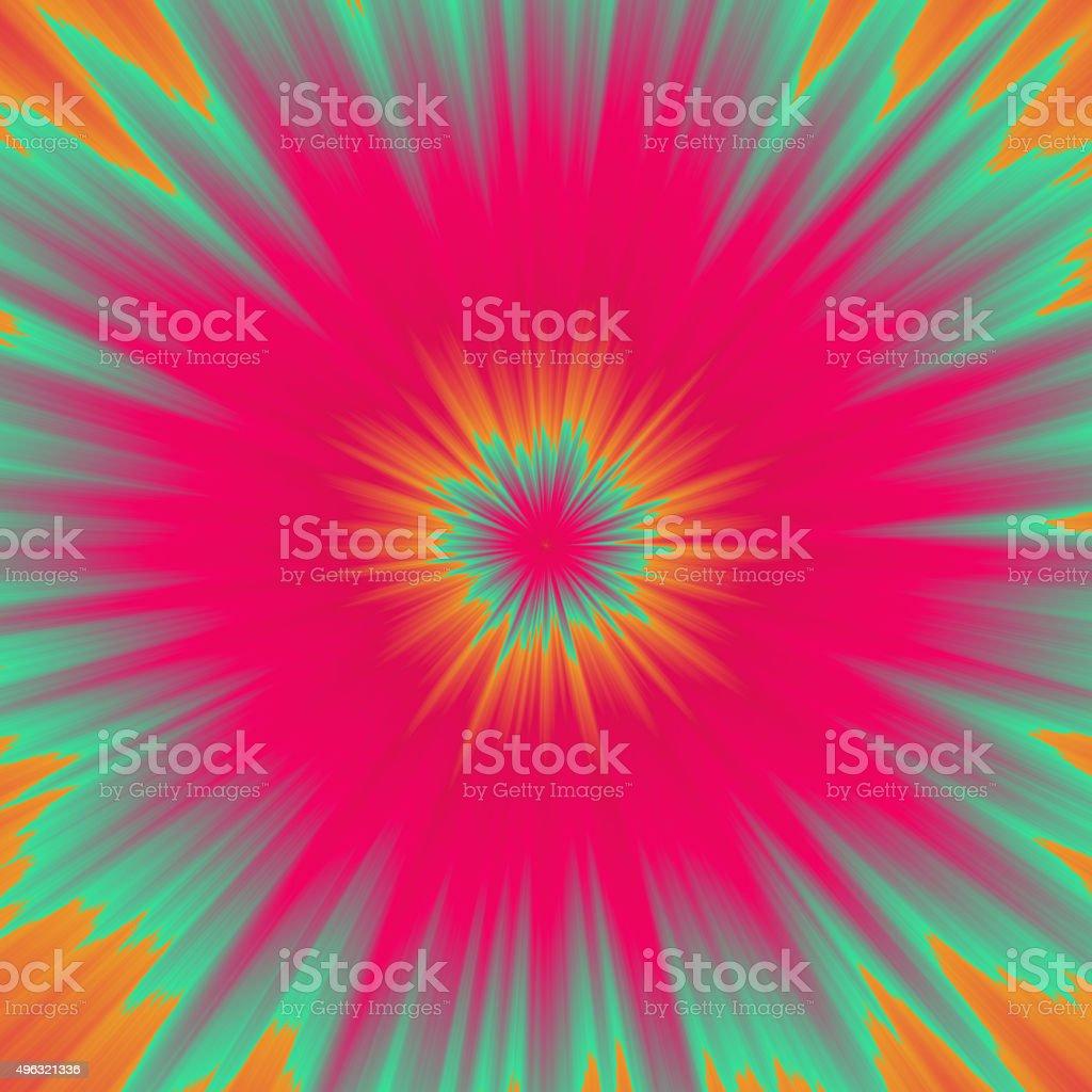 Colorful illustration of color burst vector art illustration