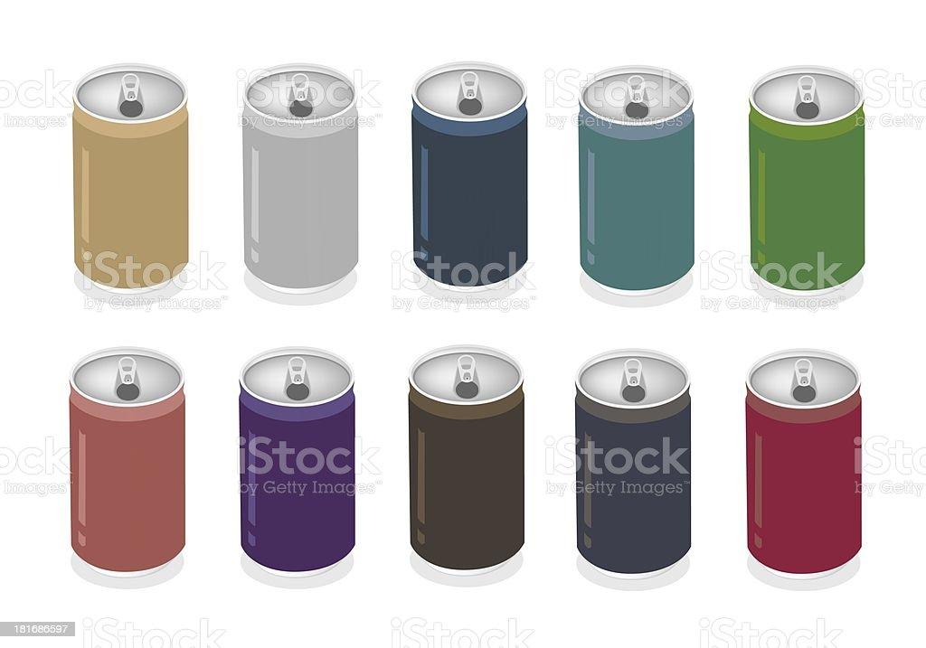 Colorful Illustration Set of Soda Can royalty-free stock vector art