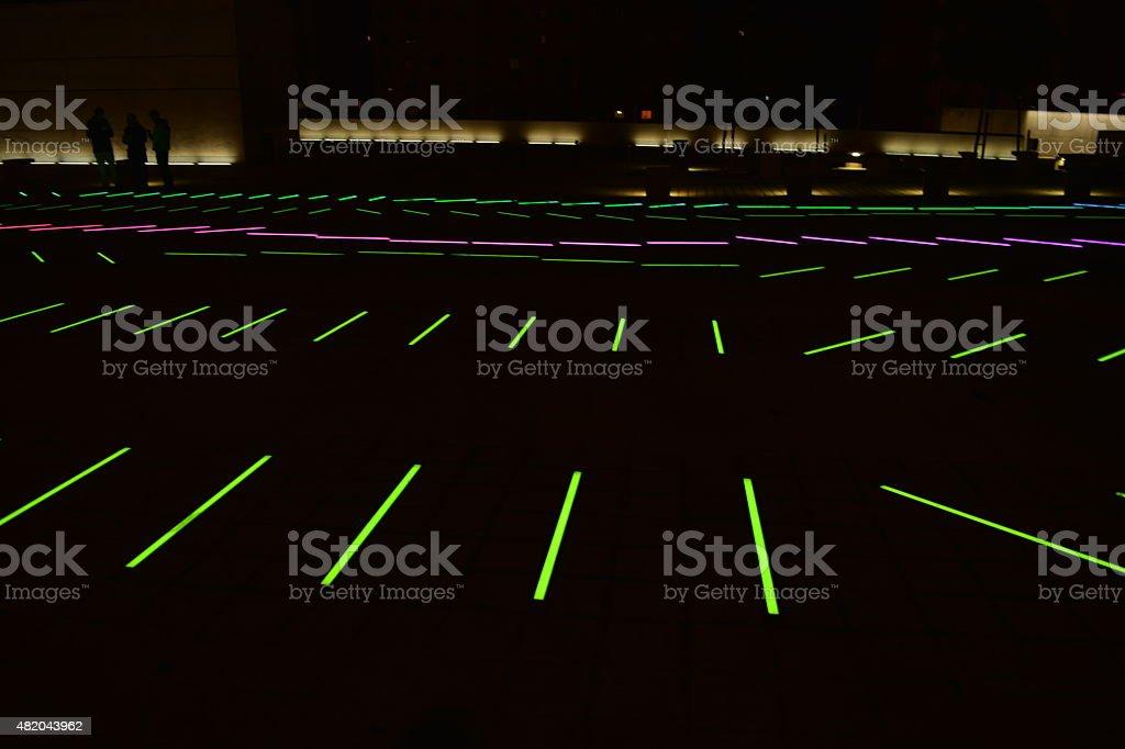 Colorful lighting on the floor vector art illustration