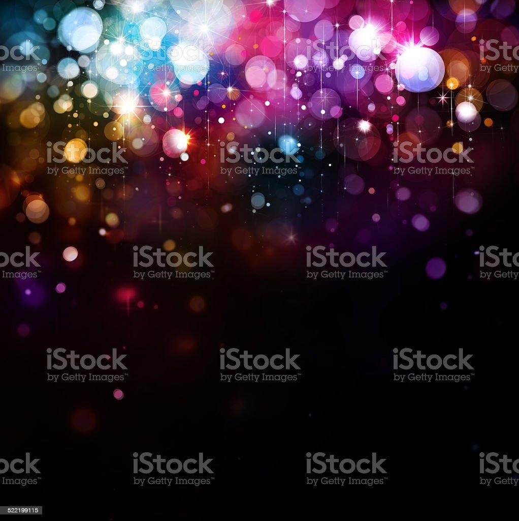 Colorful lights background. vector art illustration