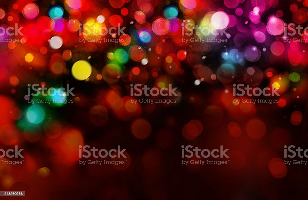 Colorful lights on red background. vector art illustration