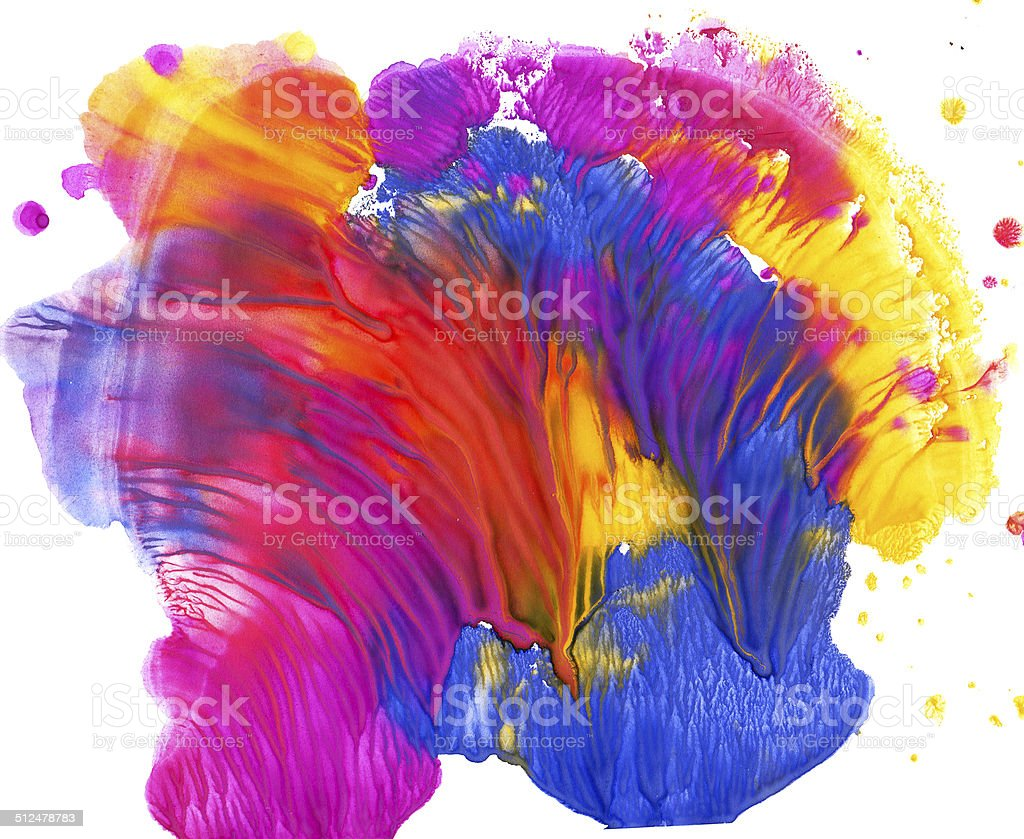 Colorful paint blot vector art illustration