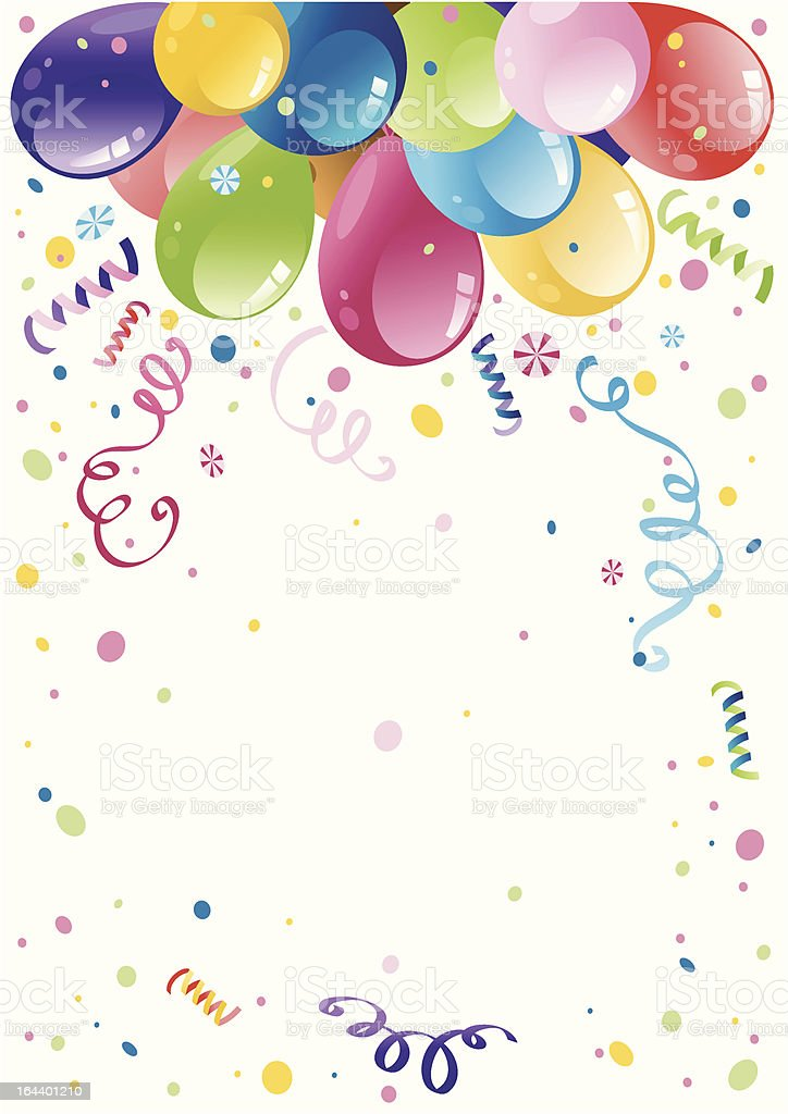 Colorful party balloons royalty-free stock vector art