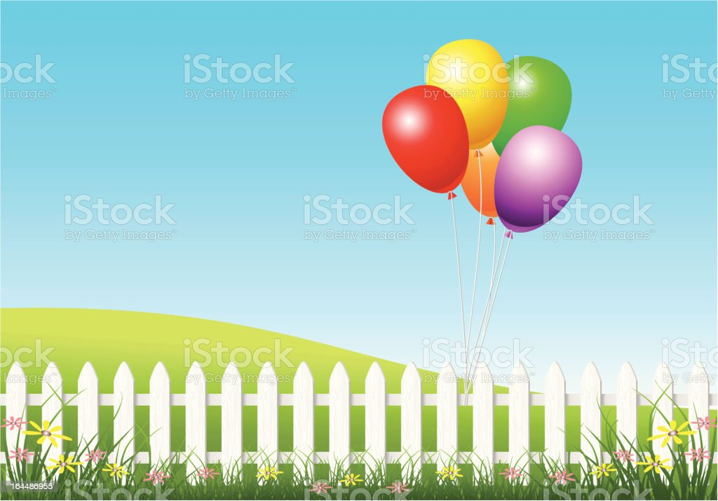 Colorful Party Balloons vector art illustration