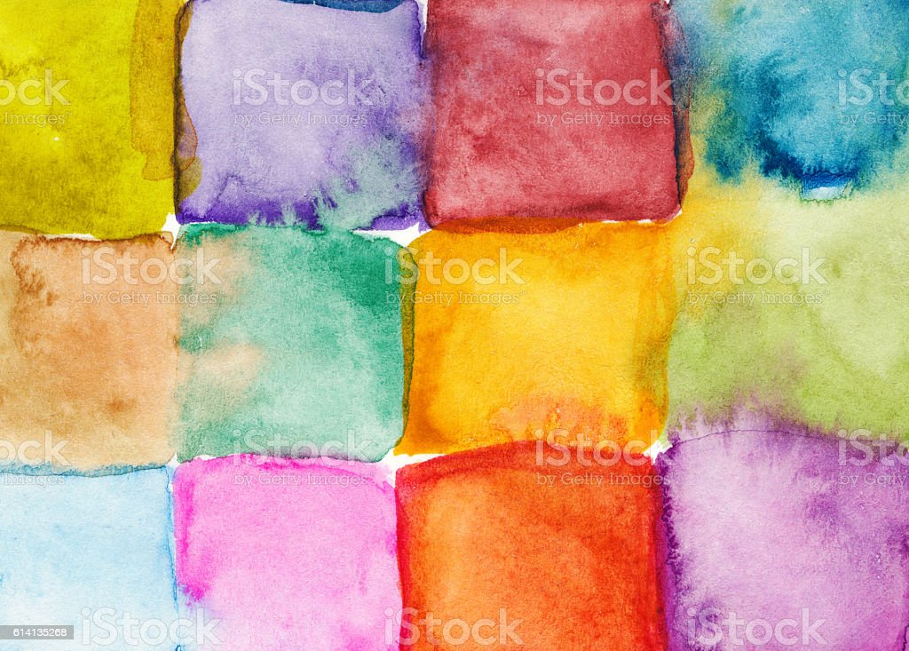 Colorful rainbow square background vector art illustration